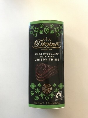 Candy / Chocolate / Divine Crispy Thins, Dark Chocolate Mint