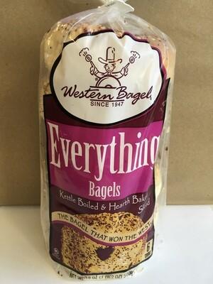 Bread / Bagels / Western Bagel Everything Bagel 6pk