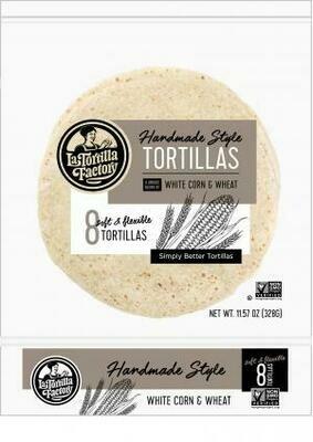 Bread / Tortillas / La Tortilla White Corn & Wheat Tortillas, 8 ct