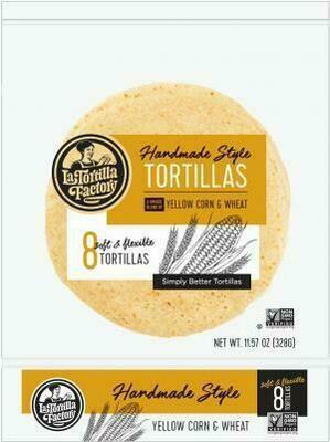 Bread / Tortillas / La Tortilla Yellow Corn & Wheat Tortillas, 8 ct