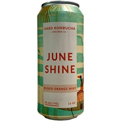 Beer / Single / Juneshine Hard Kombucha, Blood Orange Mint, 16 oz