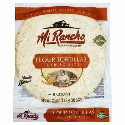 Bread / Tortillas / Mi Rancho Burrito Size Flour Tortillas, 8 ct