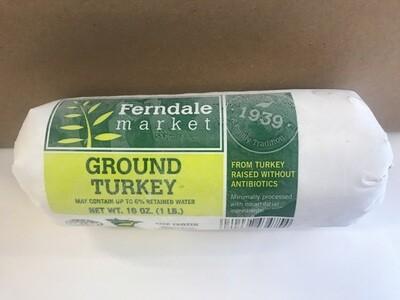 Frozen / Meat / Ferndale Market Ground Turkey, 1 lb