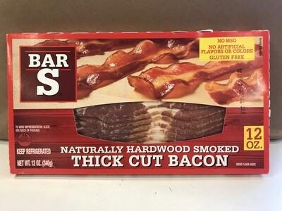 Deli / Meat / Bar S Bacon, Thick Cut, 12 oz.