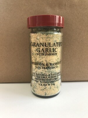 Grocery / Spice / Morton & Bassett Garlic Granulated with Parsley, 2.6 oz