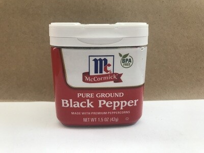 Grocery / Spices / McCormick Ground Black Pepper 1.5 oz