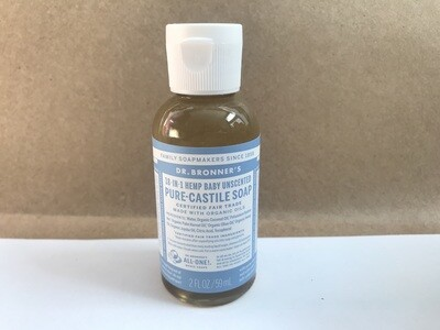 Health and Beauty / Soap / Dr. Bronner Baby Unscented Liquid Soap, 2 oz.