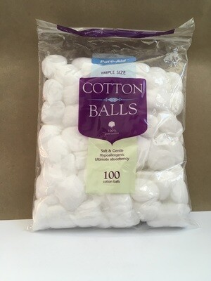 Health and Beauty / Beauty / Pure-Aid Cotton Balls