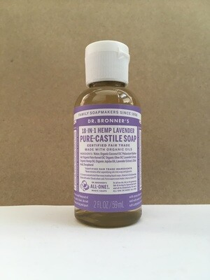 Health and Beauty / Soap / Dr. Bronner Liquid Lavender 2 oz