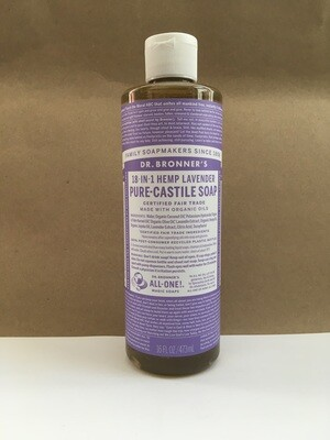 Health and Beauty / Soap / Dr. Bronner Liquid Lavender 16 oz