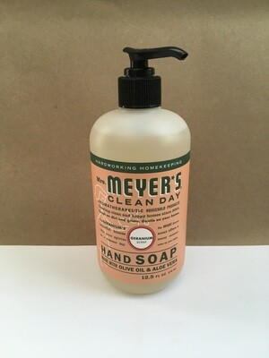 Health and Beauty / Soap / Mrs. Meyers Hand Soap Geranium