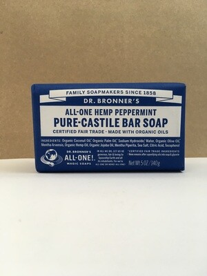 Health and Beauty / Soap / Dr. Bronner Bar Peppermint