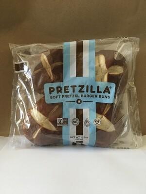 Bread / Buns / Pretzilla Hamburger Buns, 4pk