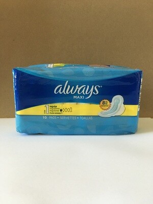 Health and Beauty / Feminine Products / Always Maxi 10-Count