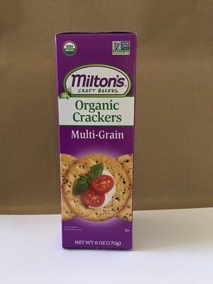Snacks / Crackers / Milton's Multigrain Cracker 6 oz.