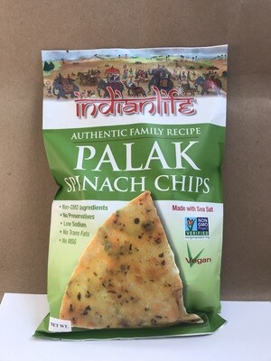 Chips / Big Bag / Indian Life Palak Spinach Chips, 6 oz.