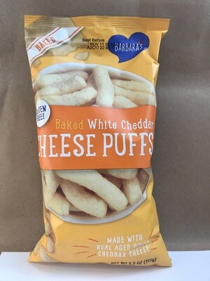 Chips / Big Bag / Barbara's Cheese Puffs Baked White Cheddar, 5.5 oz