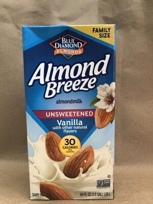 Grocery / Milk Substitute / Almond Breeze Vanilla Unsweetened 64oz