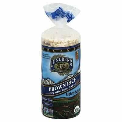 Grocery / Snack / Lundberg  Organic Brown Rice Cakes Light Salt, 8.5 oz