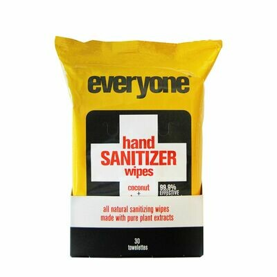 Health and Beauty / Hand Sanitizer / Everyone Wipes Hand Sanitizer Coconut & Lemon 30 pk
