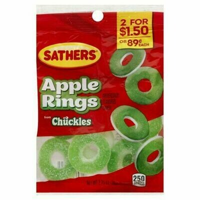 Candy / 2 for $1.50 / Sather's Apple Rings