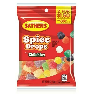 Candy / 2 for $1.50 /  Sather's Spice Drops