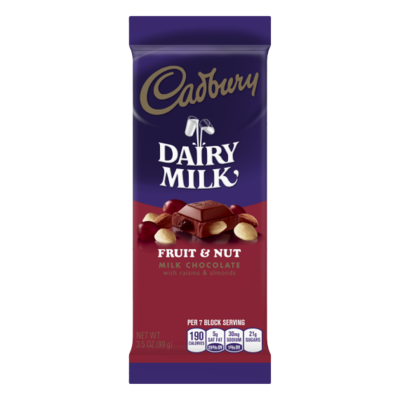 Candy / Chocolate / Cadbury Fruit and Nut Bar