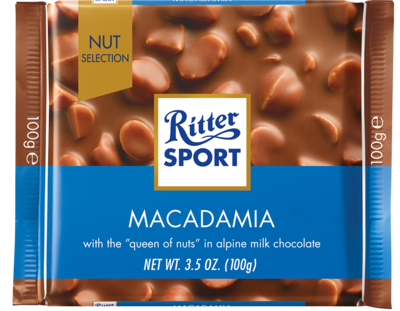 Candy / Chocolate / Ritter Sport Milk Chocolate Macadamia