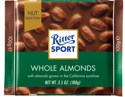 Candy / Chocolate / Ritter Sport Milk Chocolate with Whole Almonds