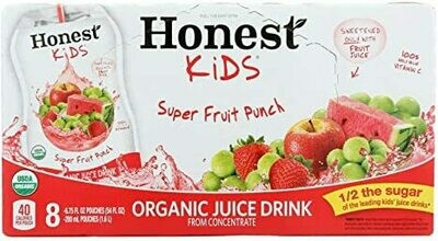 Grocery / Juice / Honest Kids Super Fruit Punch, 8 pk