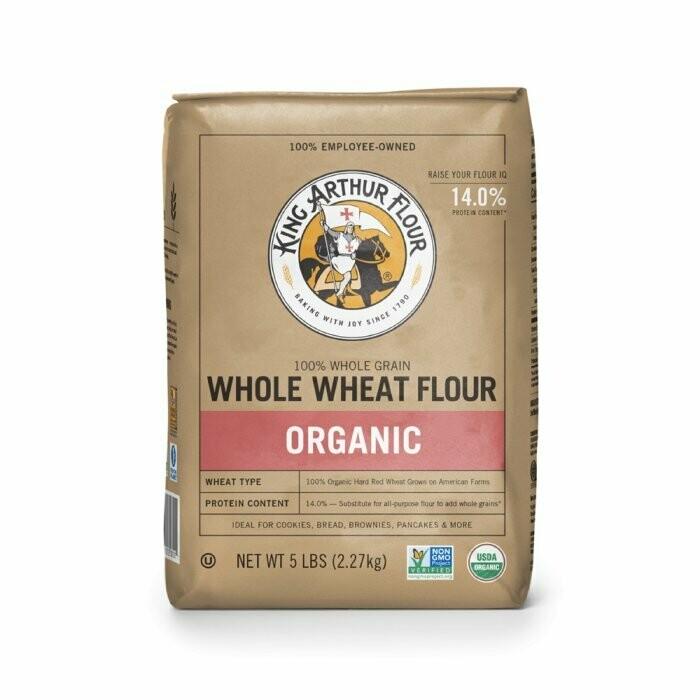 Grocery / Baking / King Arthur Organic Whole Wheat Flour, 5 lb