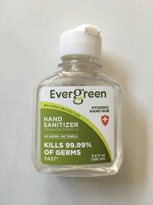 Health and Beauty / Hand Sanitizer / Evergreen Hand Sanitizer, 3.4 fl oz