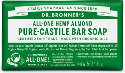 Health and Beauty / Soap / Dr. Bronner Bar Almond