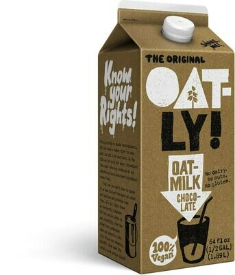 Dairy / Milk Substitute / Oatly Oatmilk Chocolate, half gallon