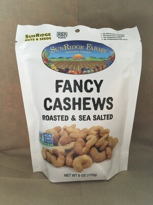 Bulk / Nuts / Roasted Salted Cashews, 6 oz
