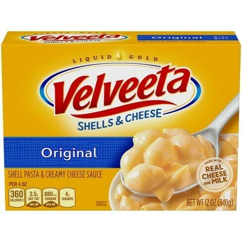 Grocery / Pasta / Velveeta Shells & Cheese Dinner