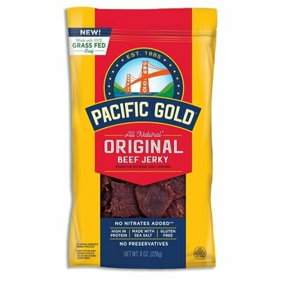 Grocery / Snack / Pacific Gold Beef Jerky, 1.25 oz.