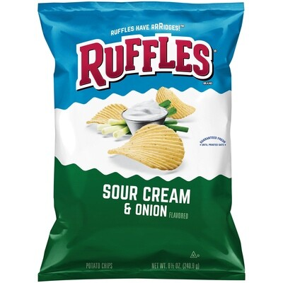 Chips / Big Bag / Ruffles Sour Cream/Onion 8.5 oz
