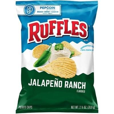 Chips / Small Bag / Ruffles Jalapeno Ranch, 2.5 oz
