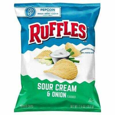 Chips / Small Bag / Ruffles Sour Cream/Onion 2.5 oz