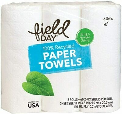 Household / Paper / Field Day Paper Towel 3 pk