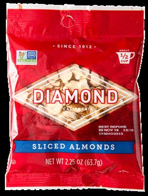 Snack / Nuts / Diamond Sliced Almonds, 2.25 oz.