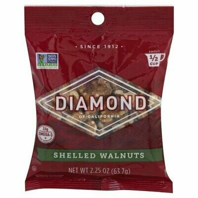 Snack / Nuts / Diamond Shelled Walnuts, 2.25 oz.