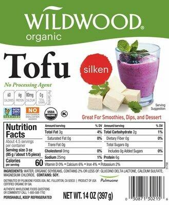 Deli / Tofu / Wildwood Organic Tofu Silken, 14 oz