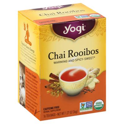 Grocery / Tea / Yogi Tea, Organic Chai Rooibos
