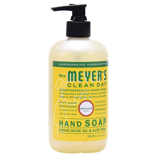 Household / Soap / Mrs Meyers Hand Soap Honeysuckle, 12.5 oz