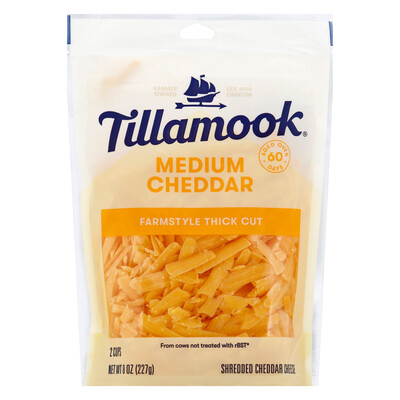 Deli / Cheese / Tillamook Shredded Cheddar, 8 oz.