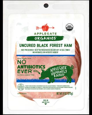 Deli / Meat / Applegate Organic Uncured Black Forest Ham, 6 oz.