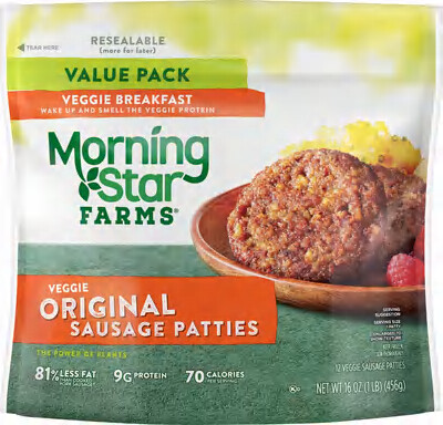 Frozen / Entree / Morningstar Farms Veggie Sausage Patties, 16 oz
