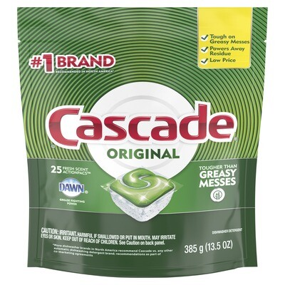 Household / Cleanser / Cascade Actionpacs 25 count